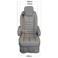 Superior belmont seat - Side Dimensions
