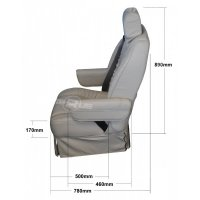 Superior belmont seat - Front Dimensions
